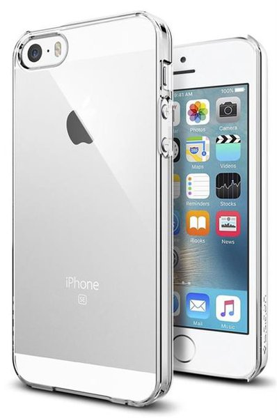 Spigen - Pouzdro Thin Fit pro Apple iPhone 5/5S/SE Crystal Clear