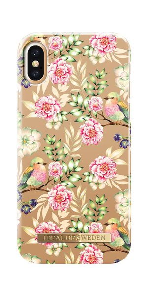 iDeal of Sweden - Fashion pouzdro pro Apple iPhone X / XS, champagne s motivem