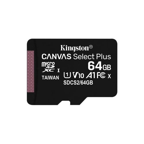 Kingston - microSDXC paměťová karta Canvas Select Plus A1 CL10 100MB / s, SD adaptér